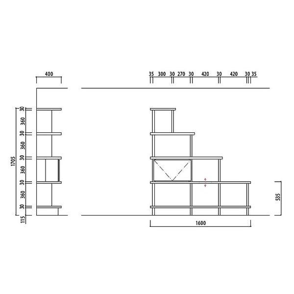 大建工業 ねこシェルフ プラン� cat_shelf_plan10