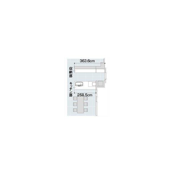 LIXIL アレスタ オープン対面キッチン ペニンシュラI型 alesta_plan2