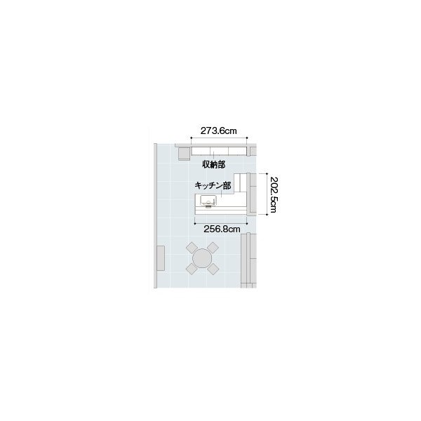 LIXIL アレスタ オープン対面キッチン ペニンシュラL型 alesta_plan7