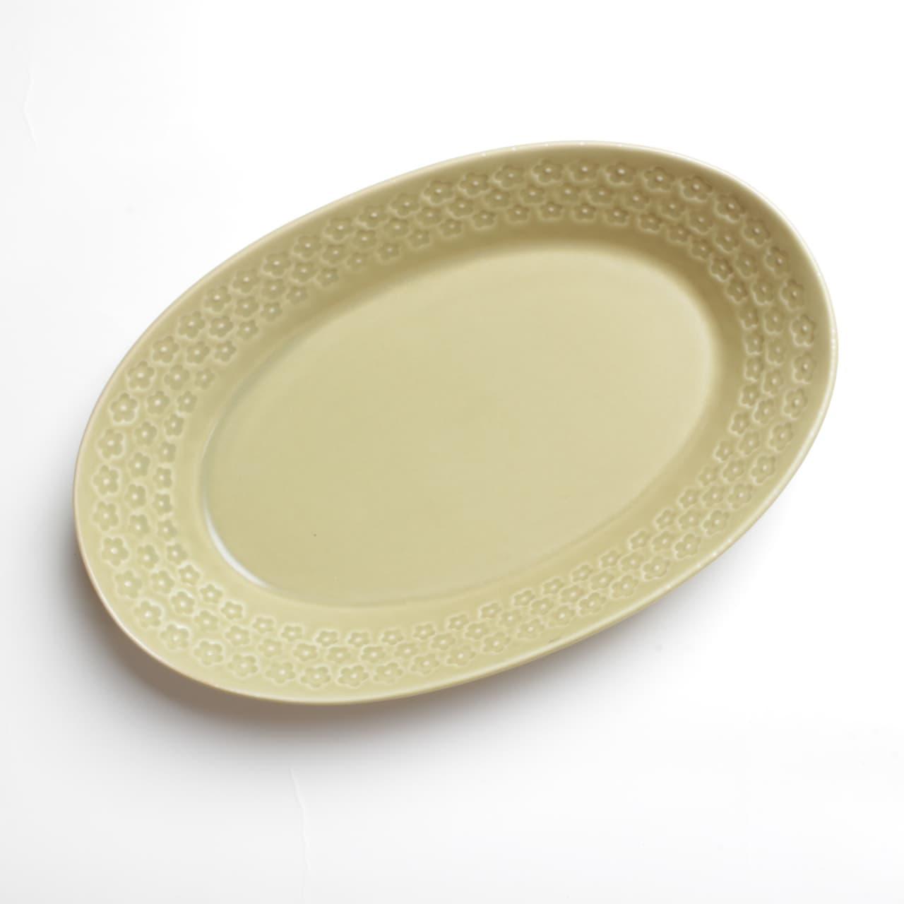 茶マット 印花型 楕円鉢