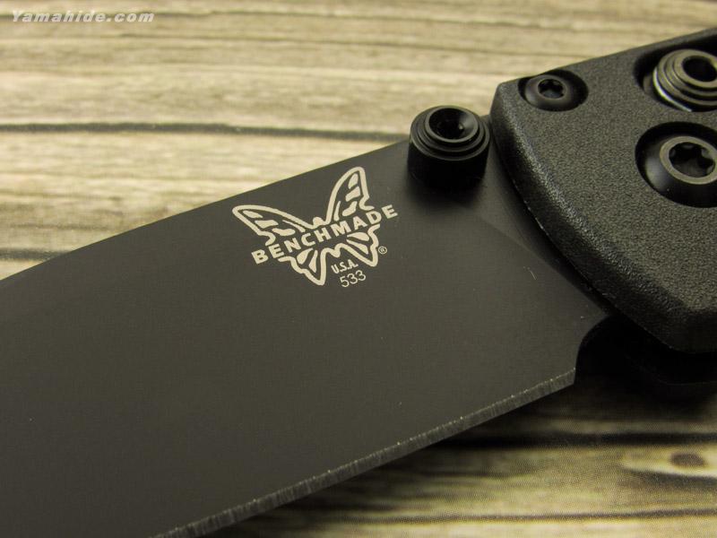 ベンチメイド 533BK-2 ミニ バグアウト ブラック直刃,ブラックハンドル 折り畳みナイフ,BENCHMADE MINI BUGOUT Folding Knife