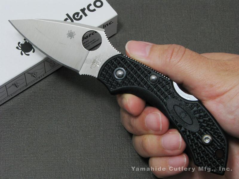 スパイダルコ C28PBK2 ドラゴンフライ2 /VG-10 直刃 ブラック 折り畳みナイフ