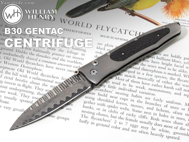 .ウィリアムヘンリー B30 ジェンタック セントリヒュージ 折りたたみナイフ,William Henry B30 GENTAC CENTRIFUGE folding Knife