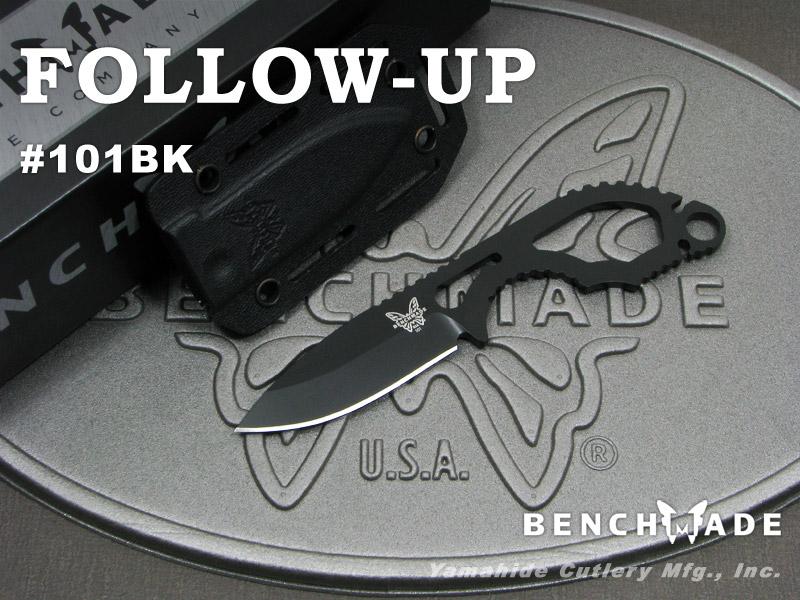 ベンチメイド 101BK フォロー アップ シースナイフ ,BENCHMADE Follow-Up