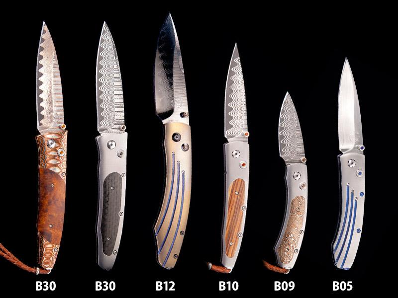 .ウィリアムヘンリー B10 ランセット ストライプ  折りたたみナイフ,William Henry B10 LANCET STRIPE folding Knife