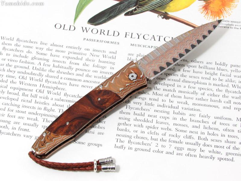 .ウィリアムヘンリー B30 ジェンタック レッドサンズ  折りたたみナイフ,William Henry B30 GENTAC RED SANDS folding Knife