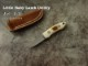 .吉川 英治 作 0104 リトルベビー ラム ユーティリティ VINO-1 マンモスアイボリー シースナイフ / Eiji Kikkawa ,Little Baby Utility ,Sheath knife