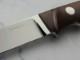 【取寄】多松 国彦 作 インプルーブド ケーパー エルマックス キャラメルキャンバスマイカルタ シースナイフ,Kunihiko Tamatsu Custom Knife