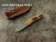 .吉川 英治 作 0105 リトルベビー ラム ユーティリティ VINO-1 マンモスアイボリー シースナイフ / Eiji Kikkawa ,Little Baby Utility ,Sheath knife
