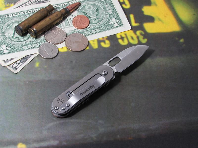 ブラック フォックス 01FX483 ビーン Gen 2 ウッド 折り畳みナイフ,Black Fox Bean Gen 2  Wood folding knife