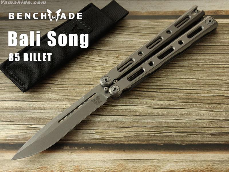 ベンチメイド 85 ビレット バリソン チタン バタフライナイフ,BENCHMADE BILLET Ti Bali-Song