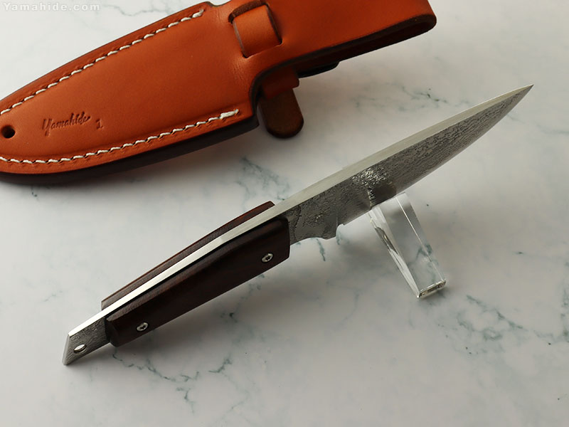 岩井 丈 黒猪 漣(さざなみ)山秀80周年記念ナイフ シースナイフ ,鍛造ナイフ特集 ,Black Boar Custom Knife