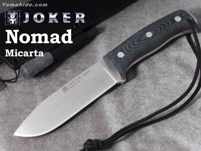ジョーカー CM125-P ノマド マイカルタ ファイヤースチール付 ブッシュクラフトナイフ,Joker NOMAD BUSHCRAFT KNIFE MICARTA