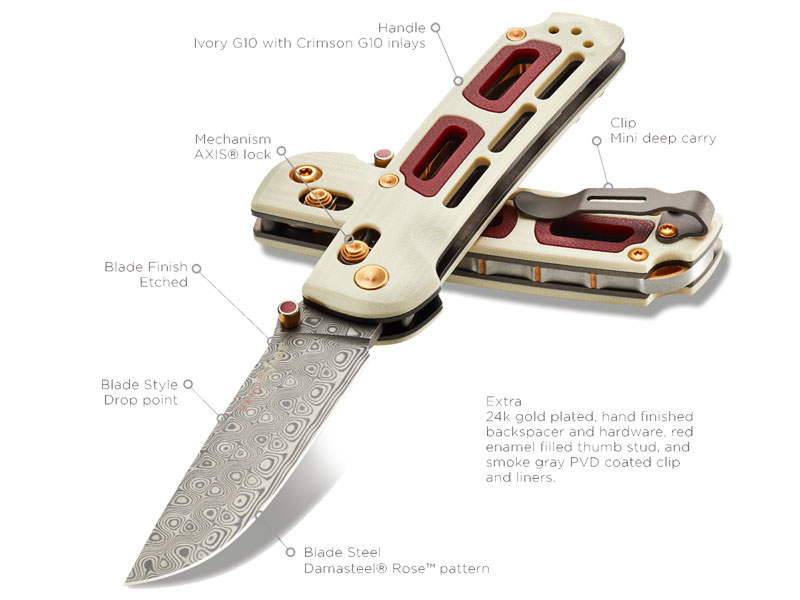 予約】 ベンチメイド 486-201 サイブ ゴールドクラス 限定モデル,折り畳みナイフ ,BENCHMADE SAIBU