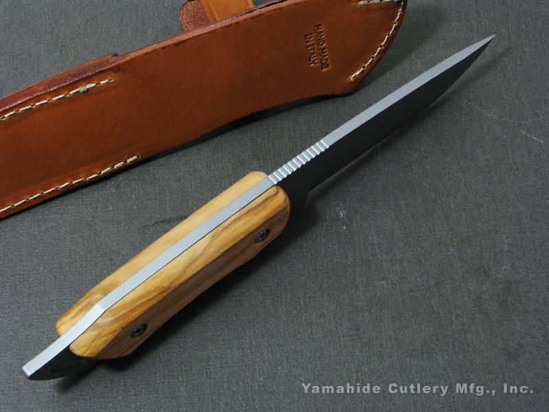 マセリン 982/OL ハンティング/オリーブウッド シースナイフ,Maserin