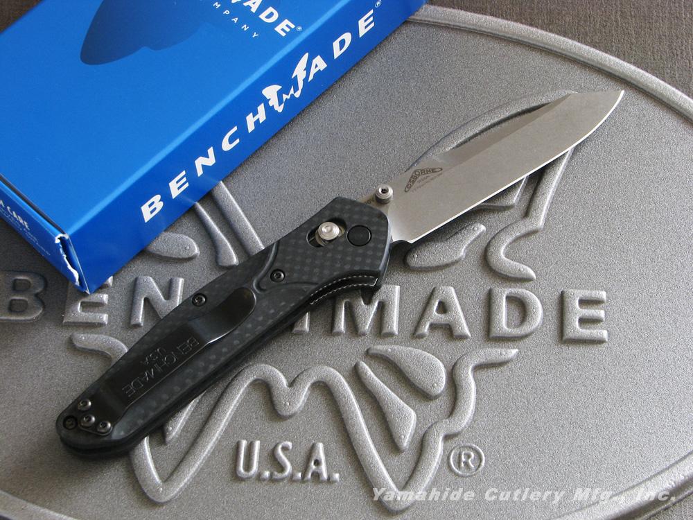 ベンチメイド 940-1 オズボーン シルバー直刃/カーボンハンドル ,折り畳みナイフ ,BENCHMADE Osborne Carbon