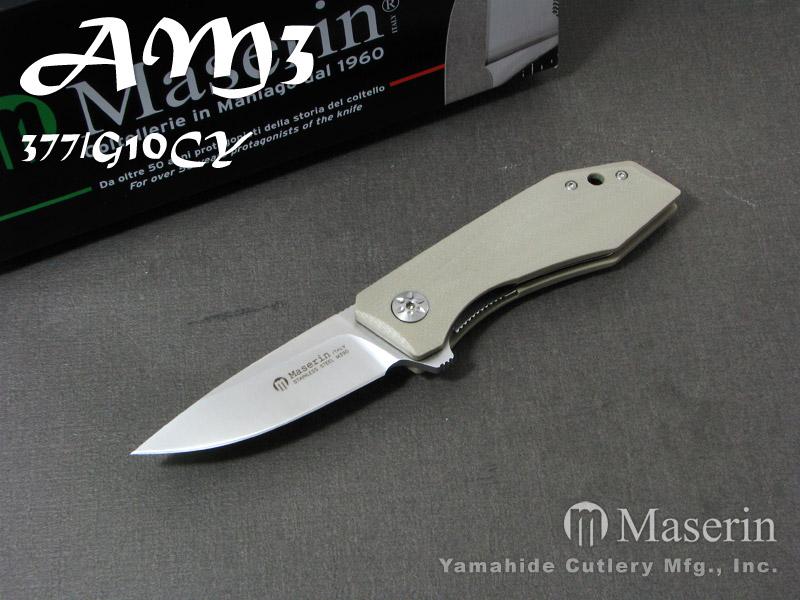 .訳有】 マセリン 377/G10CY AM3 /デザートG10 折り畳みナイフ,Maserin