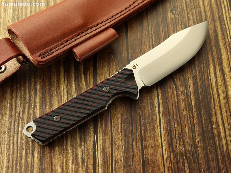 DEW ブランド d1 赤/黒 ブッシュクラフトナイフ,DEW HARA KNIFE