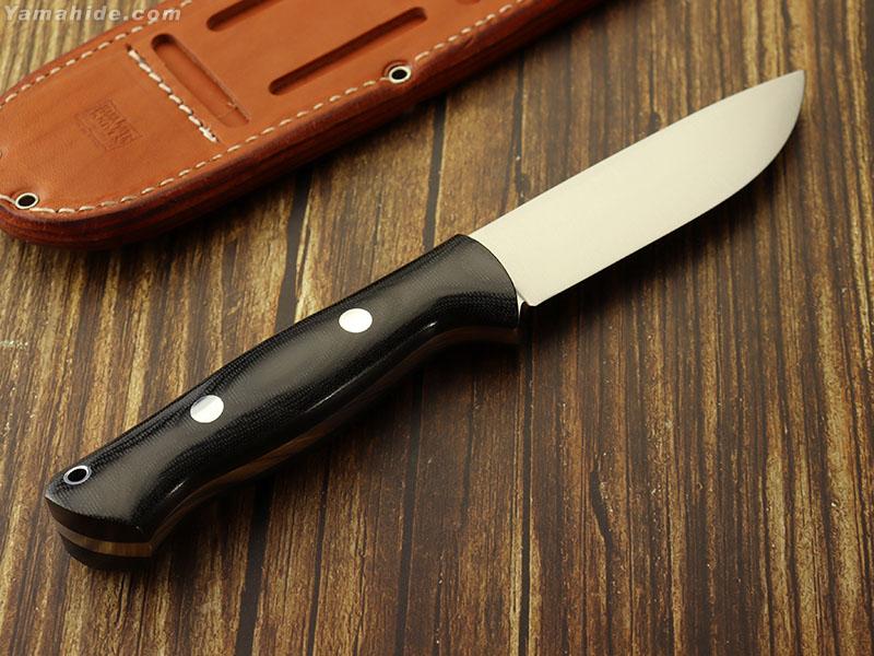 バークリバー BA07112MBC ブラボー1 A2 ランプレス ブラックキャンバスマイカルタ,Bark River Bravo Black Canvas Micarta
