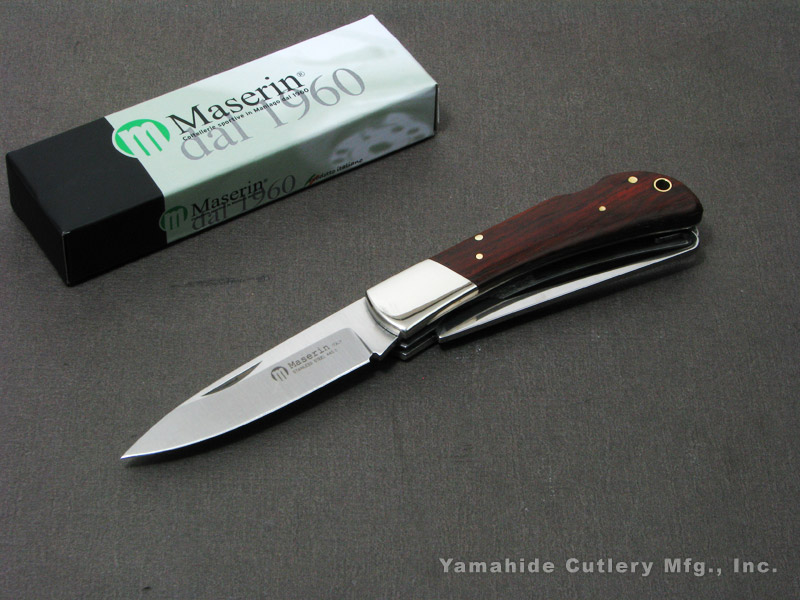 マセリン 126/2LGST ハンティング 2刀 バードフック付 折り畳みナイフ,Maserin