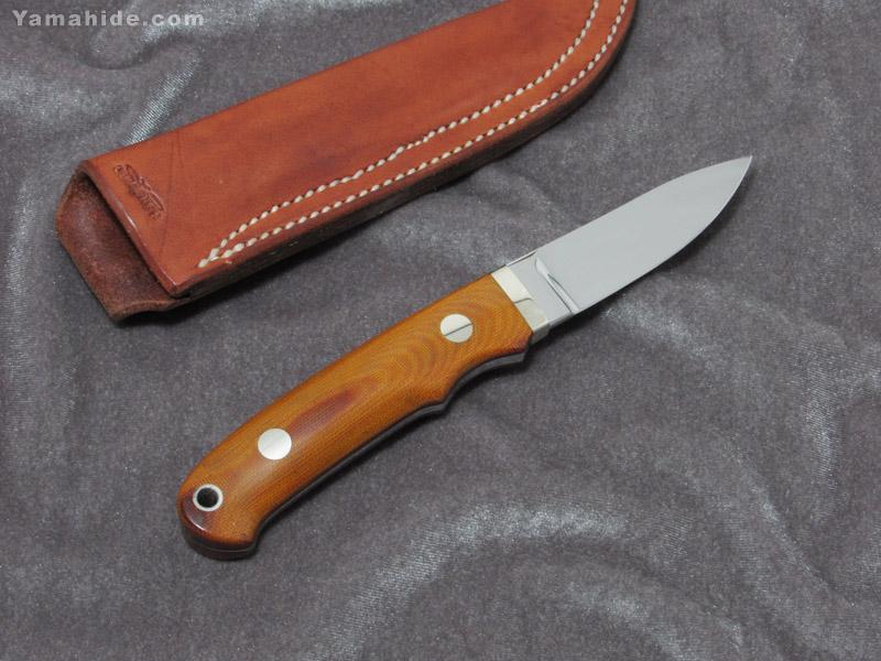 .宍戸 克麿 作 9104 セミスキナー VG-10,マイカルタ シースナイフ,Katsumaro Shishido Semi Skinner Custom knife