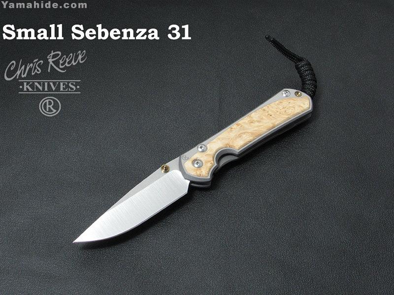 クリスリーブ S31-1108  スモール セベンザ 31 ボックスエルダー インレイ ドロップポイント 折り畳みナイフ,Small Sebenza 31 Inlay Box Elder Drop Point ,Chris Reeve