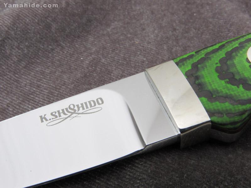.宍戸 克麿 作 9105 セミスキナー VG-10,G10-カーボン シースナイフ,Katsumaro Shishido Semi Skinner Custom knife