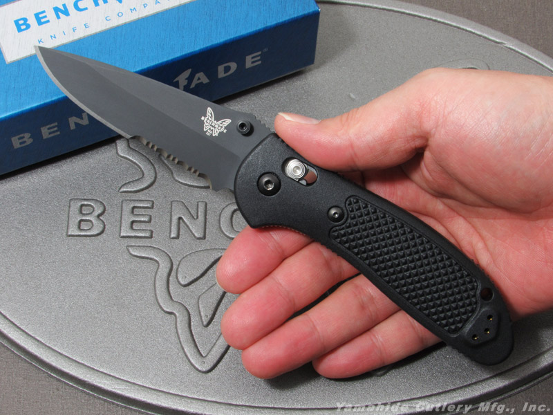 ベンチメイド 551SBK-S30V グリップティリアン ブラック直波コンビ刃 ,折り畳みナイフ ,BENCHMADE Griptilian