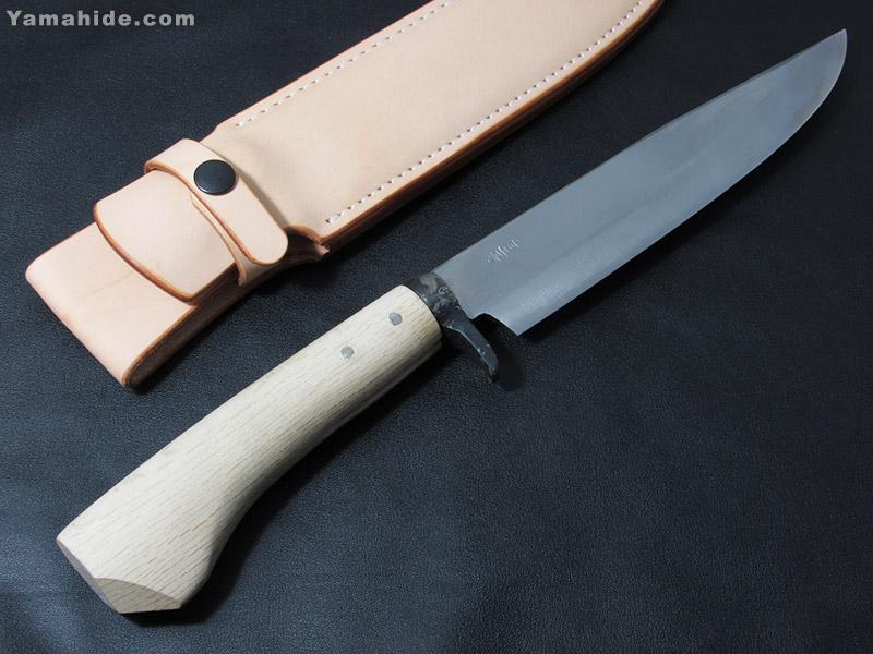 .岩井 丈(源右衛門)作/磨き 剣鉈 7寸(210mm)白紙割込/Takeshi Iwai(Genemon) Custom Knife