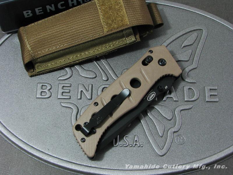 ベンチメイド 275BKSN アダマス・マニュアル ブラック直刃/サンドカラーハンドル ,折り畳みナイフ ,BENCHMADE ADAMAS MANUAL