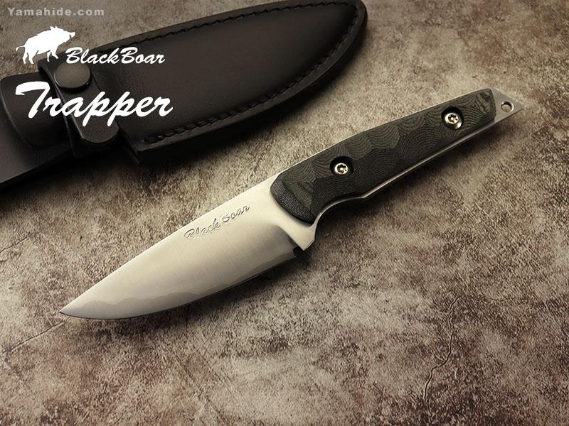 ブラックボア トラッパー 鍛造シースナイフ ,Black Boar Trapper Custom Knife