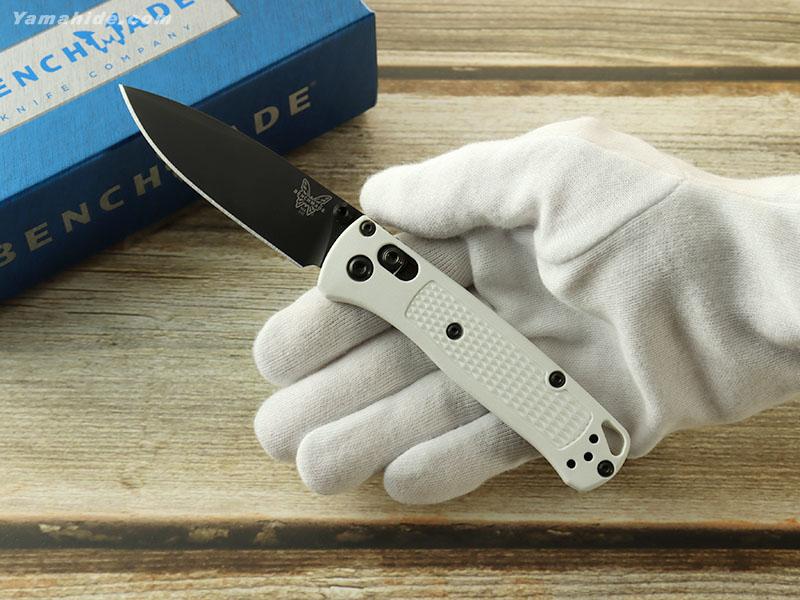 ベンチメイド 533BK-1 ミニ バグアウト ブラック-ホワイト 折り畳みナイフ,BENCHMADE MINI BUGOUT Folding Knife