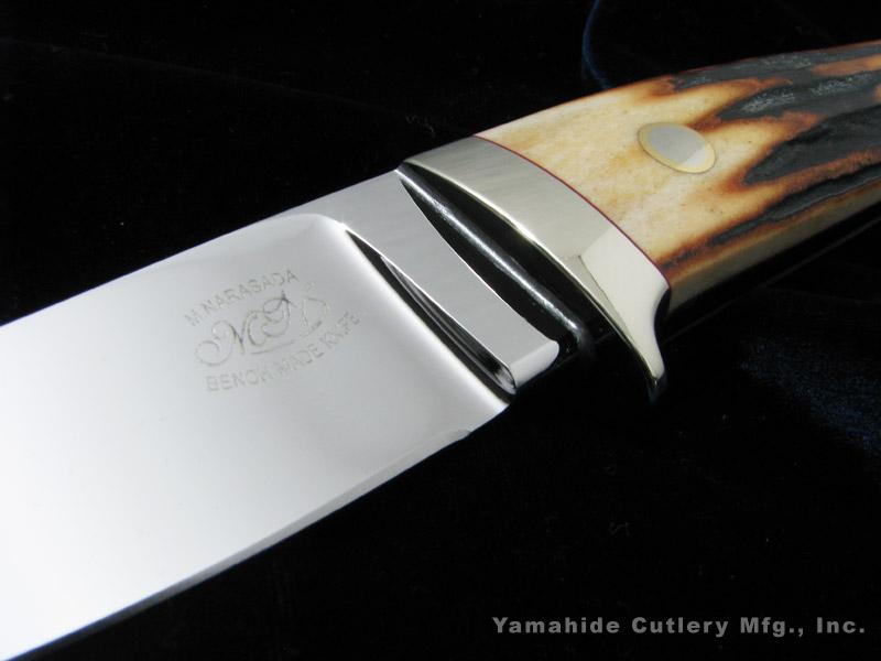 """奈良定 守 作 I0705 セミスキナー 3.5"""" / ATS-34,スタッグ / シースナイフ 【受注生産】 ラブレストリビュート / Mamoru Narasada Custom knife"""