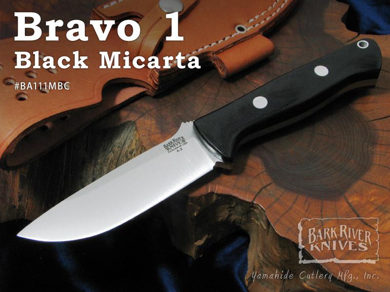 バークリバー BA111MBC ブラボー1/A2 ブラックキャンバスマイカルタ シースナイフ,Bark River Bravo 1 Black Micarta