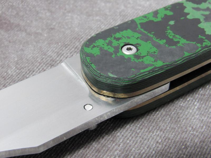 大渕 勲 作 9123 マンボウ1 グリーン 折り畳みナイフ,Isao Ohbuchi Manbow custom knife