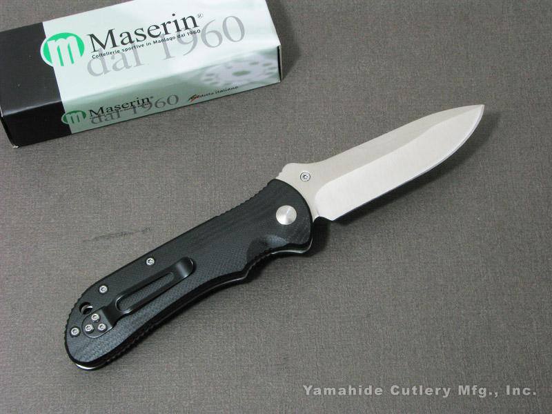.訳有】 マセリン 42002G10N スポーツ ボタンロック 折り畳みナイフ,Maserin Sport folding knife,Maserin