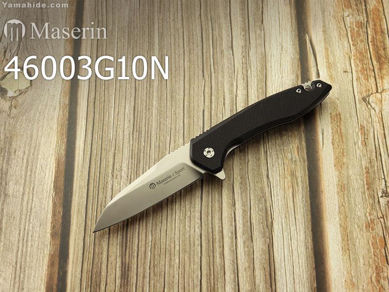 マセリン 46003G10N スポーツ フリッパー ライナーロック 折り畳みナイフ,Maserin Sport folding knife