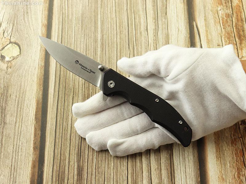 マセリン 46004G10N スポーツ フリッパー ライナーロック 折り畳みナイフ,Maserin Sport folding knife