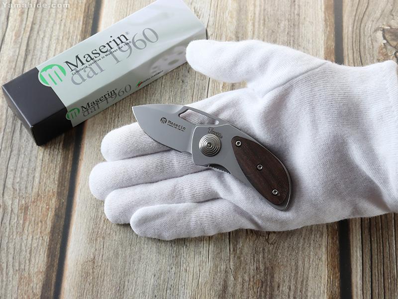 マセリン 433/CO タートル ウォールナット 折り畳みナイフ,Maserin TURTLE Walnut folding knife