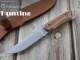 マセリン 982/LG ハンティング ウォールナット シースナイフ,Maserin HUNTING Walnut Fixed knife