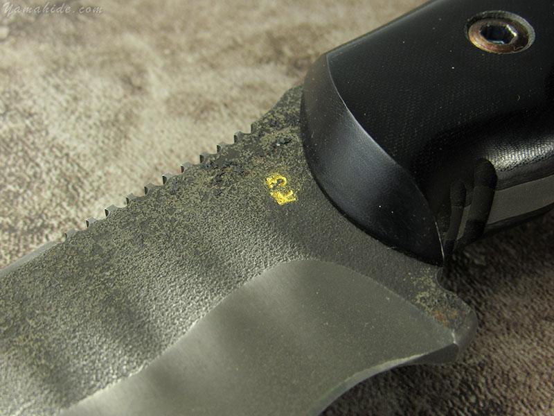 浦邊 謙三 作 1053 パイソン シースナイフ, Kenzo Urabe Custom Knife