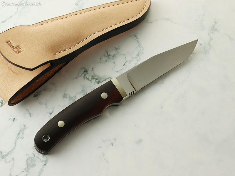松浪 力也 作 レンジャー G ユーティリティ 紫檀  シースナイフ / Rikiya Matsunami Custom knife