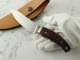 松浪 力也 作 スキナー & キャンパー 皮剥ぎ 紫檀 シースナイフ,Rikiya Matsunami Custom knife
