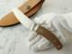 松浪 力也 作 スキナー & キャンパー 皮剥ぎ ブラウンキャンバスマイカルタ シースナイフ,Rikiya Matsunami Custom knife