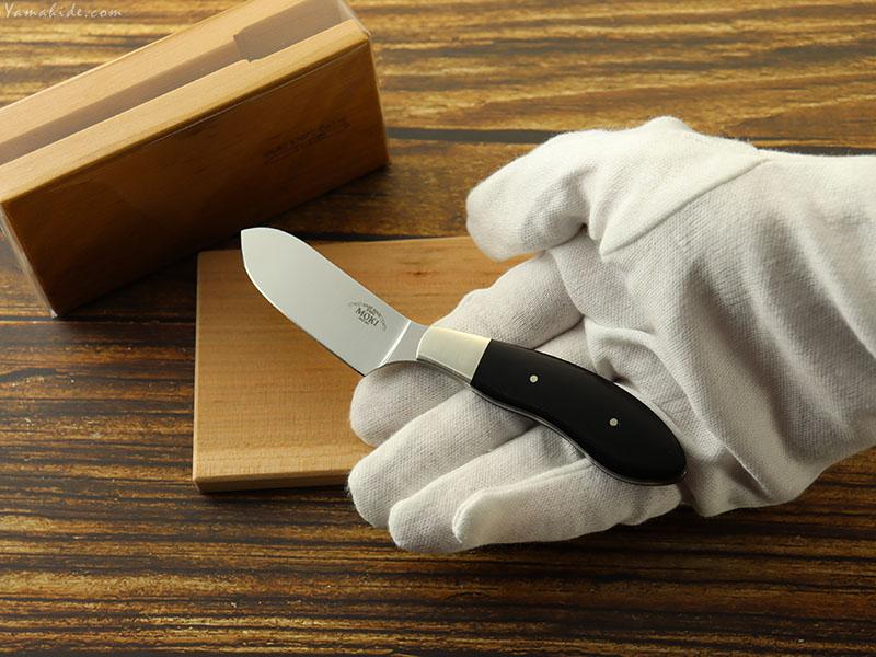 モキナイフ  TP-200  entaku エンタク (スタンドナイフ) ATS-34 ブラックリネンマイカルタ,Moki Knife