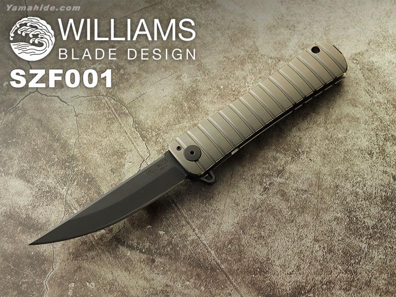 ウィリアムズ B.D. SZF 001 ショウブヅクリ フォルダー 折り畳みナイフ,Shobu Zukuri Folder WILLIAMS BLADE DESIGN
