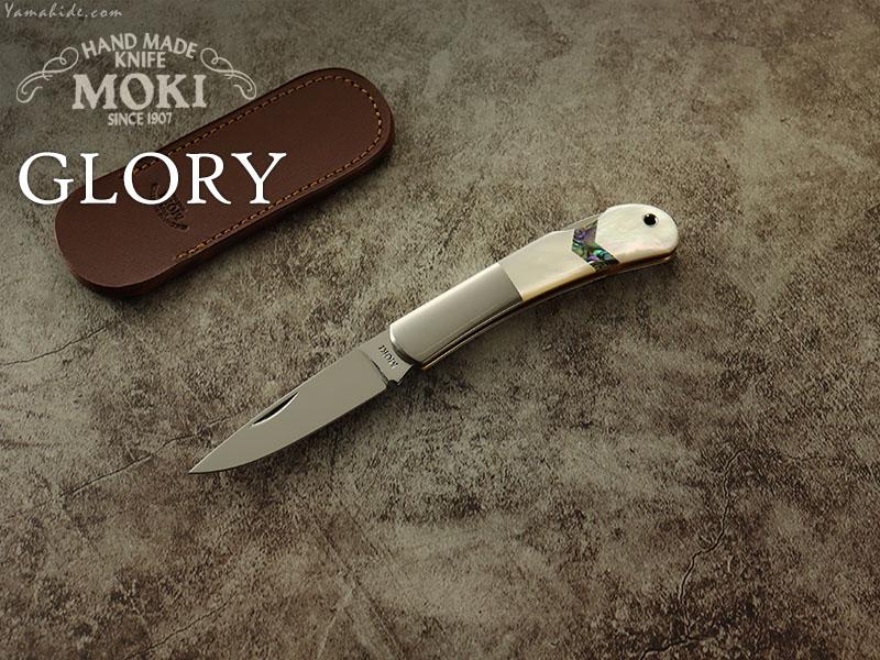 モキナイフ  MK-101EG  グローリー・アロー  白蝶貝 折り畳みナイフ,Moki Knife