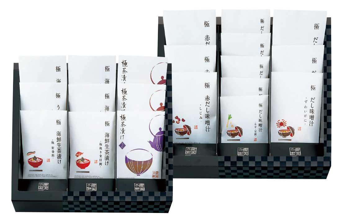 極だし 海鮮生茶漬け・だし味噌汁の ギフトセット KGP-100MC