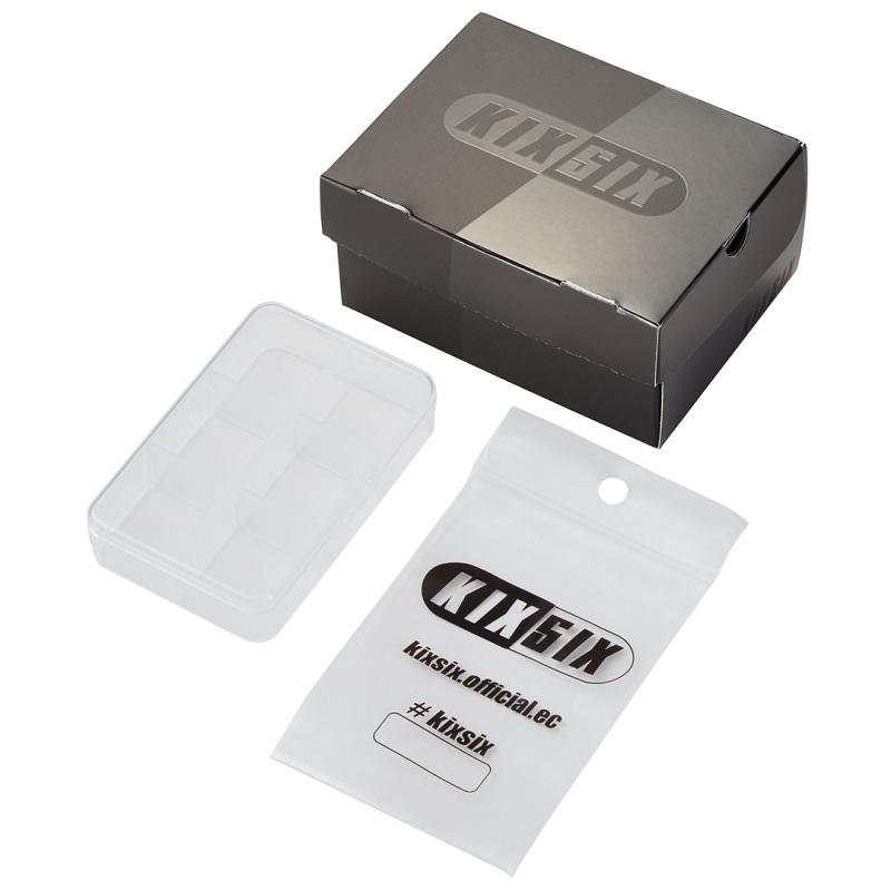 KIXSIX SU21 WAXED SHOELACE 2P BOX BLACK-WHITE/gold KX-01WS2B-GD キックスシックス ワックスド シューレス 2P ボックス