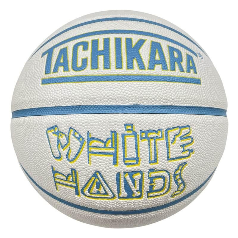 【7号球】【バスケットボール】TACHIKARA BASKETBALL タチカラ ボール  ホワイトハンズ WHITE HANDS SB7-256 メンズ レディース キッズ ホワイト/ライトブルー/イエロー ホワイト系
